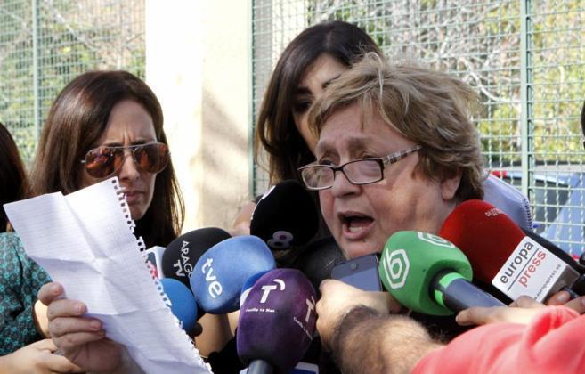 Teresa Mesa comunica a la prensa que deja de ser portavoz.