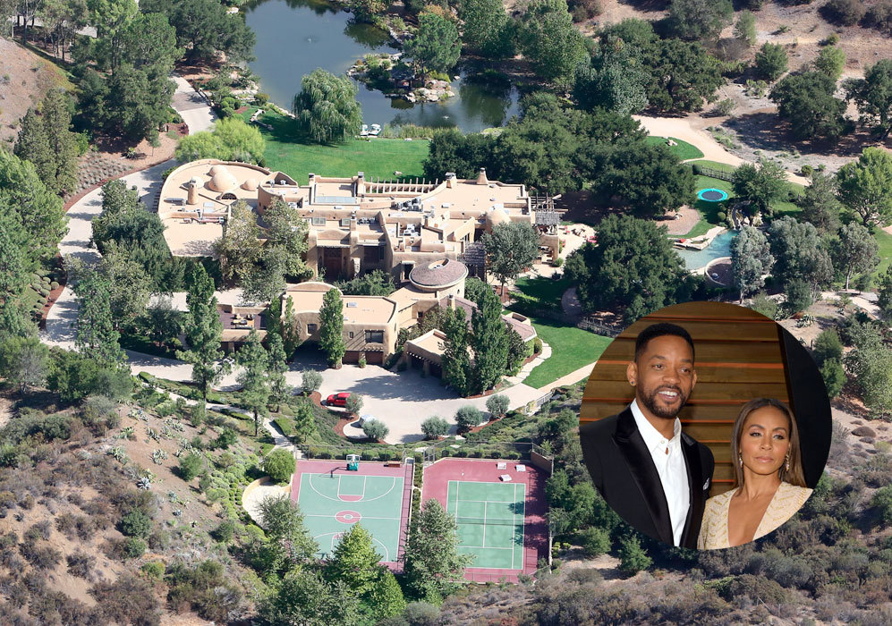 Will Smith (46) y Jada (43): La mansión de la pareja se encuentra en...