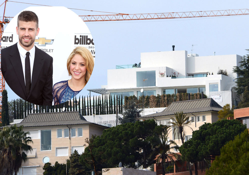 Shakira (37) y Piqué (27): La pareja decidió construir su casa desde...
