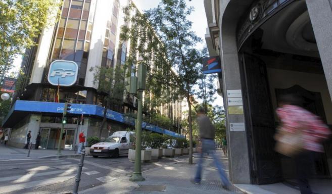 La sede central del PP en la calle Génova (Madrid).