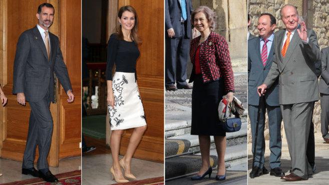 Felipe VI, la reina Letizia, doña Sofía y don Juan Carlos.