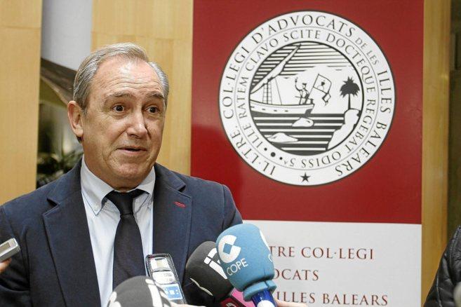 El decano del Colegio de Abogados de Baleares, Martín Aleñar.