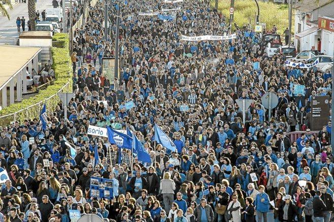 Manifestación en Ibiza contra las prospecciones en el Golfo de...