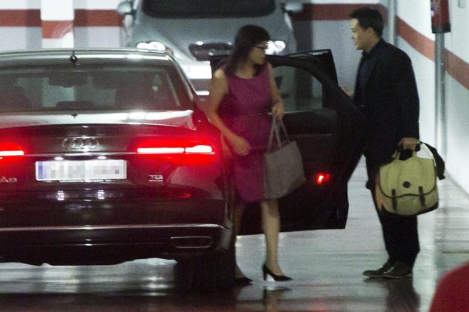 Lay Hoon, mano derecha del empresario Peter Lim, a su llegada a las...