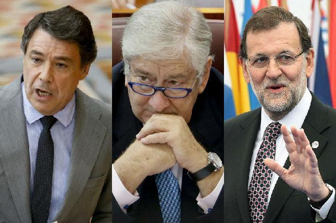 El presidente de la Comunidad de Madrid, el consejero de Sanidad y el...