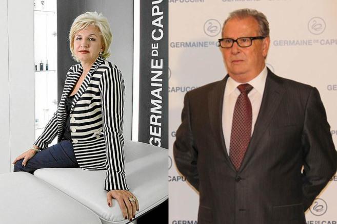 Mª Ángeles Vidal, ex presidenta de Germaine; a la derecha, su tío,...