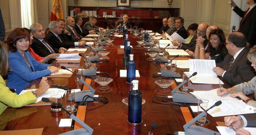 El Consejo del Poder Judicial (CGPJ) presidido por Carlos Dívar.