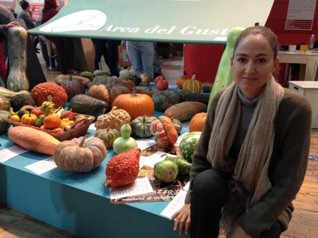 Laura Buadas, en el Salón Internacional del Gusto, en Turín.