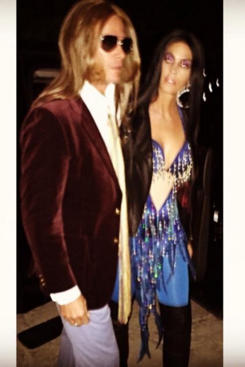Cindy Crawford, junto a su marido, en la fiesta celebrada en Beverly...