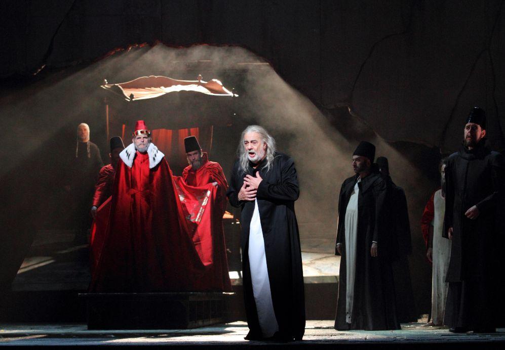 Plácido Domingo en un momento de la ópera 'I due Foscari'.