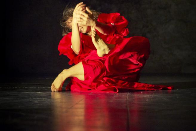 Patricia Caballero, en el espectáculo 'Lo raro es que estemos...