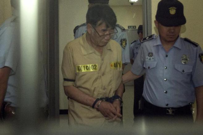 Lee Joon-seok, el capitán del Sewol, arrestado en junio.