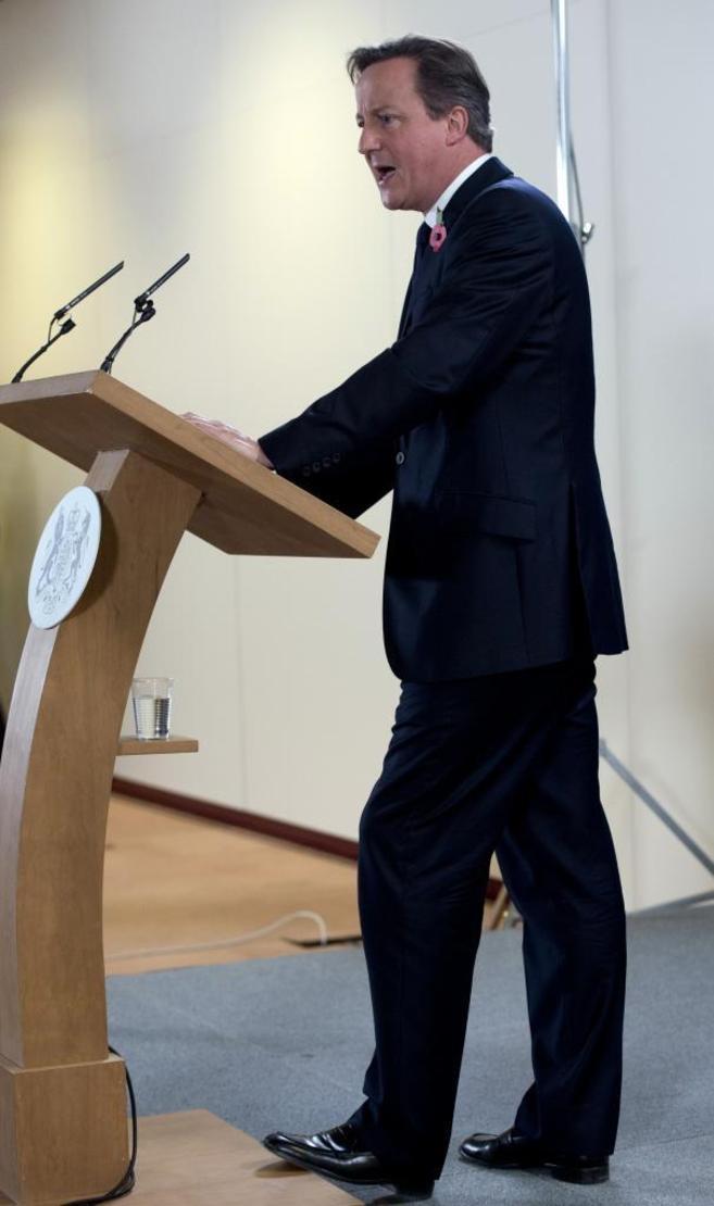 El primer ministro Británico, David Cameron, en la última cumbre...