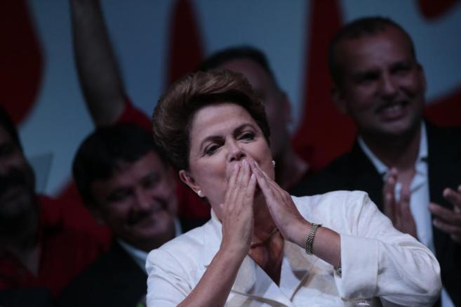 Dilma Rousseff celebra su victoria tras conocerse los resultados de...