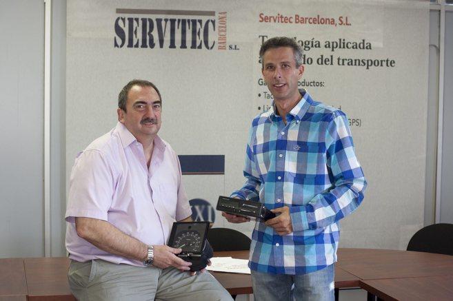 Xavier Cardús y Francesc Latorre, de la empresa Servitec, en Santa...