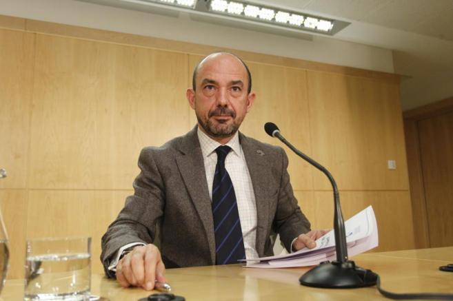 Miguel Ángel Villanueva, en la rueda de prensa en la que anunció su...