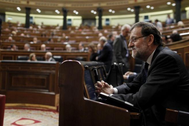 Debate de presupuestos para 2015. En la imagen, el presidente Mariano...