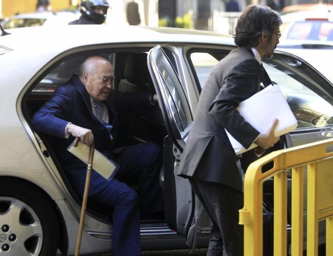 Álvaro Lapuerta, a su llegada a la sede de la Audiencia Nacional.