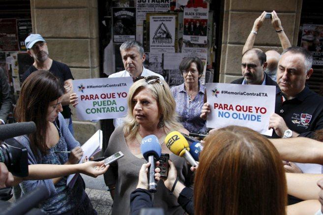 La presidenta del Colectivo de Víctimas del Terrorismo de Euskadi,...