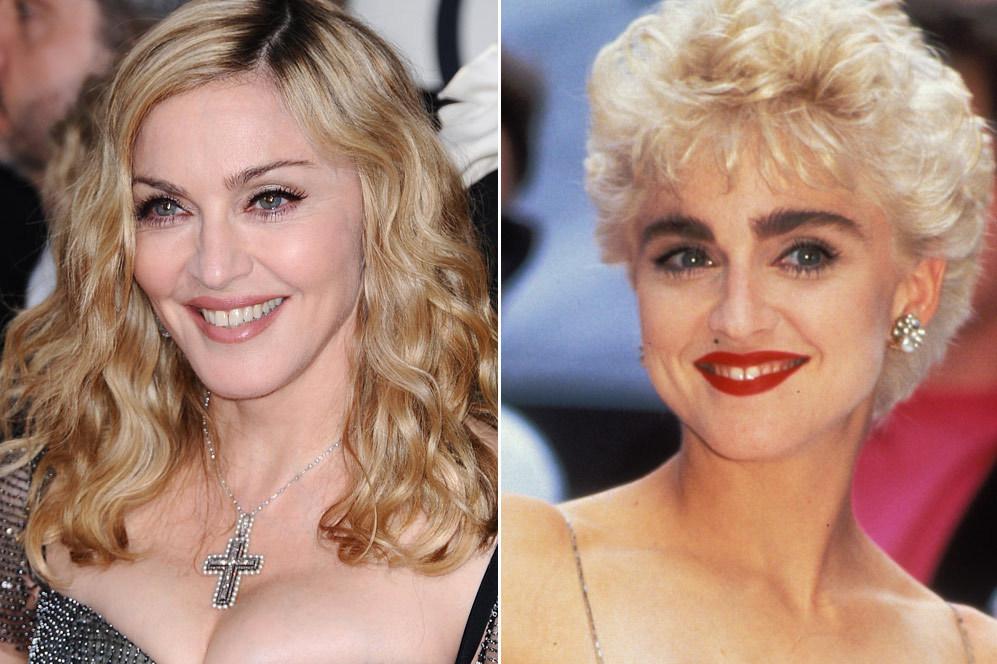 Si hay una reina del cambio de cejas esa es, sin duda, Madonna. Allá...