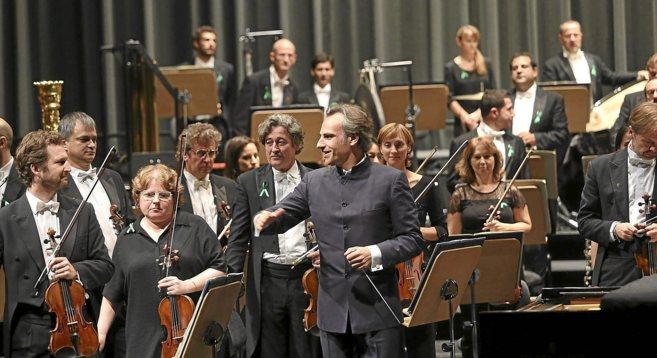 Pedro Halffter, durante un concierto reciente en el Maestranza.