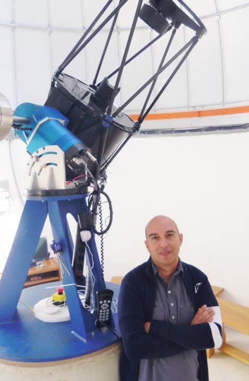José Vicente Díaz, en el Observatorio de Valencia.