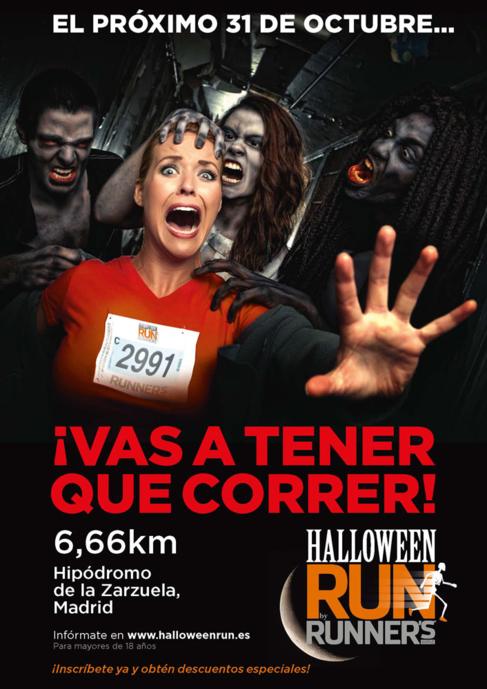 Cartel promocional de 'Halloween run'.