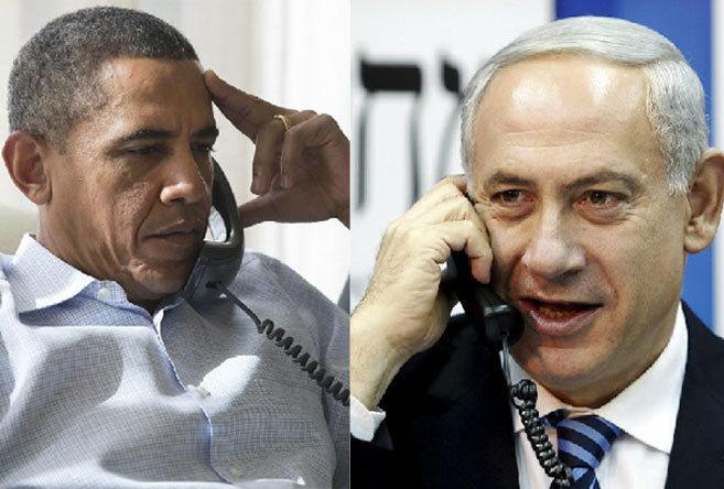 Barack Obama y Benjamin Netanyahu hablan por teléfono.