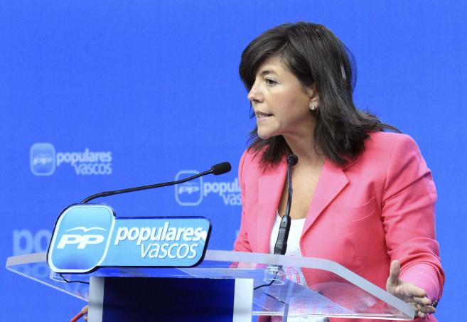 La secretaria general del PP vasco, Nerea Llanos.