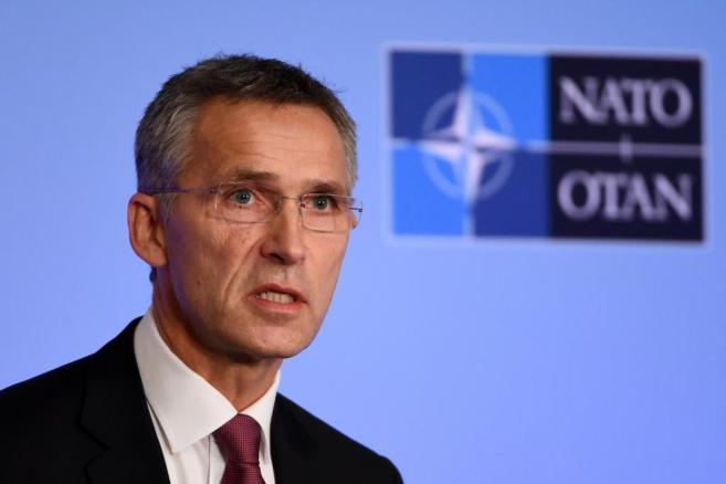 El secretario general de la OTAN, Jens Stoltenberg, en una rueda de...