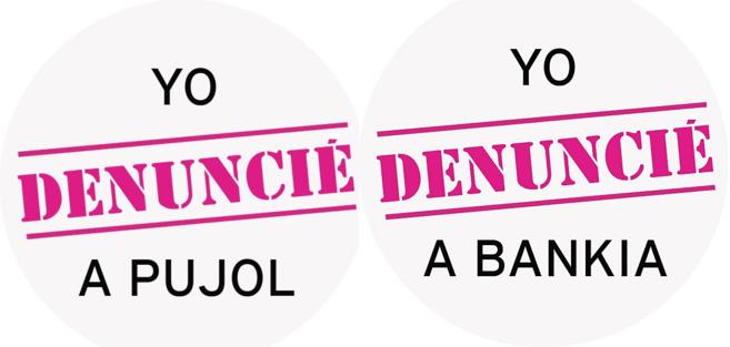 Los lemas de las chapas que va a poner a la venta UPyD.
