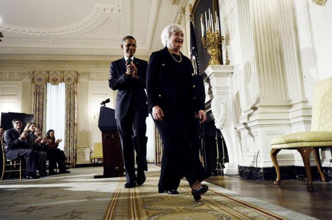 La actual presidenta de la Reserva Federal de EEUU, Janet Yellen, con...