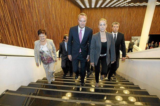 Alberto Fabra y Sonia Castedo, el pasado martes en el Foro de...