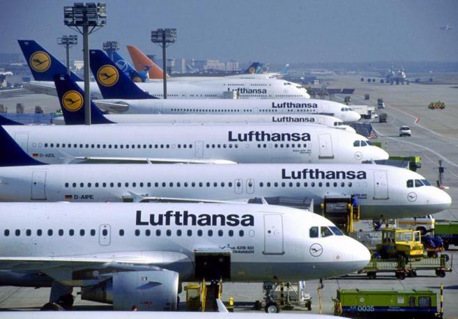 Aviones de Lufthansa en el aeropuerto de Frankfurt.
