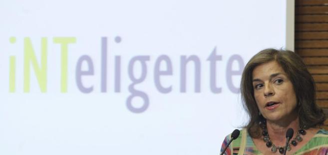 La alcaldesa Ana Botella durante un acto público.