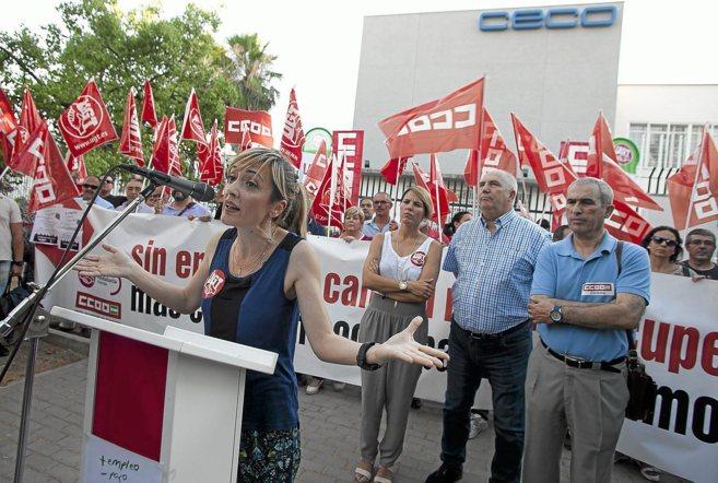 La secretaria general de UGT-A, Carmen Castilla, durante una...
