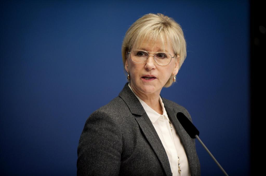 Margot Wallström responde a la prensa tras el reconocimiento de Palestina.