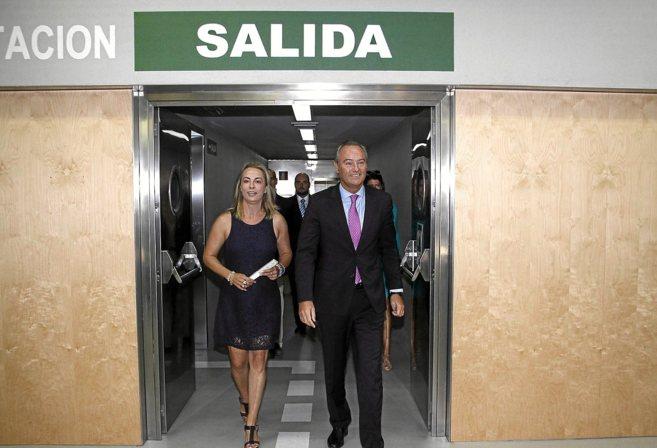 Sonia Castedo y Alberto Fabra, en la inauguración del Tram de...