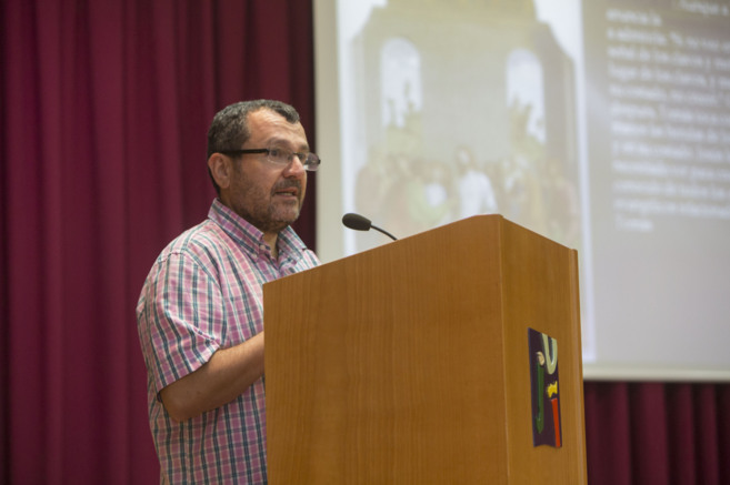 Un momento de la conferencia en la Universidad Jaume I de Castellón.