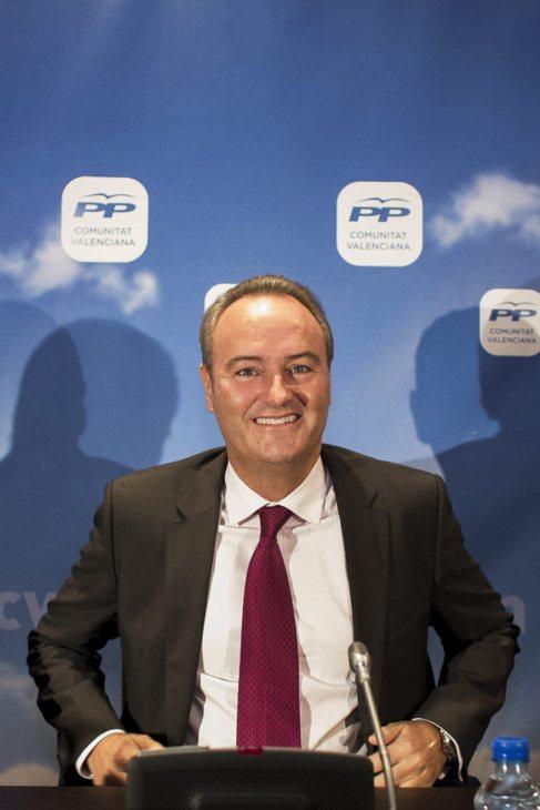 El presidente del PPCV, Alberto Fabra, este viernes,