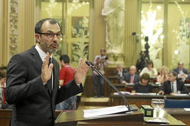 El actual portavoz parlamentario de MÉS, Biel Barceló, en el...