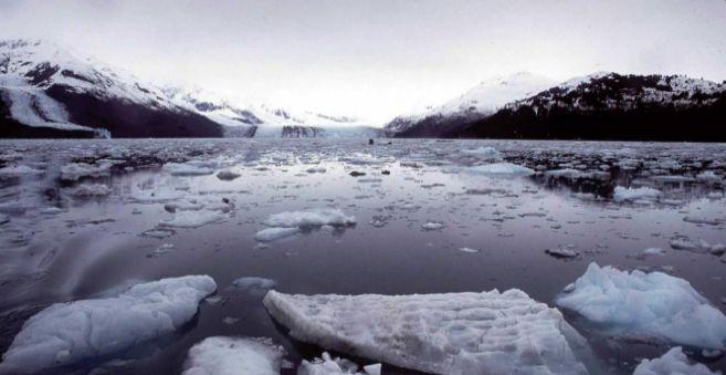 Imagen de los glaciares en Alaska.