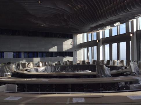 La sala del nuevo edificio que en breve estrenará el consejo de...