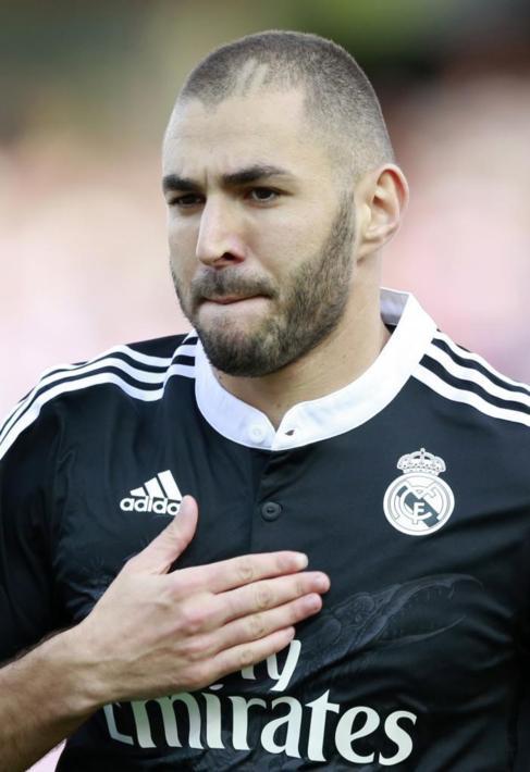 Benzema celebra su gol, el pasado sábado.