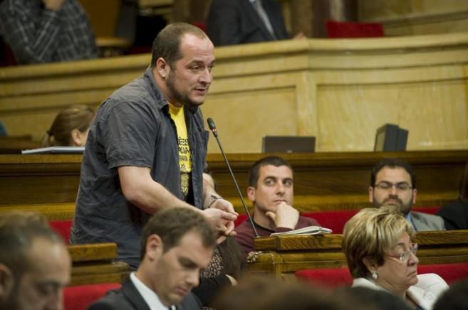 David Fernàndez de la CUP interpela al Presidente de la Generalitat.