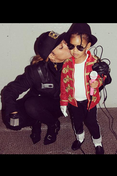 Beyoncé y su hija se tranformaron en Janet y Michel Jackson.