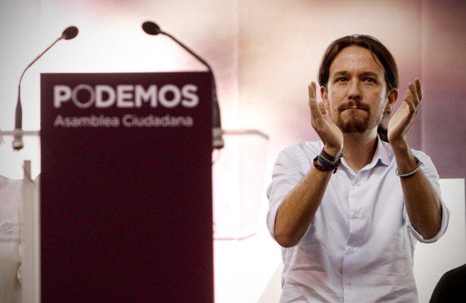 Pablo Iglesias en la asamblea ciudadana recientemente organizada por...