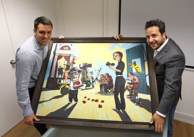 David Casellas y Josep Coll en las oficinas de RedPoints en Barcelona.