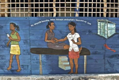 Ilustración de una consulta médica.