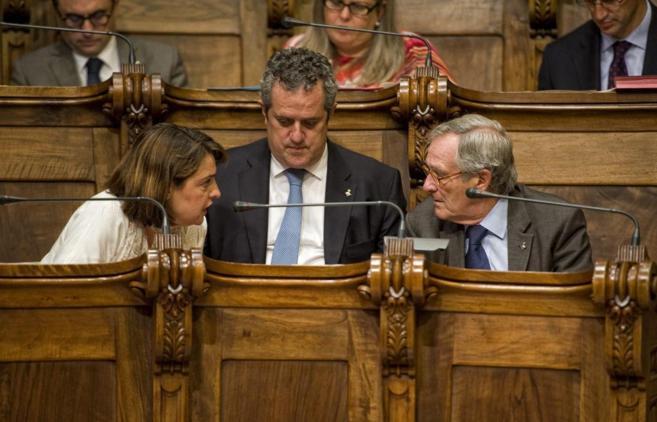 El alcalde Xavier Trias durante UN pleno del Ayuntamiento de...